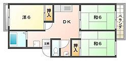 オークサイド[2階]の間取り