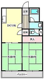福井マンション[201号室]の間取り