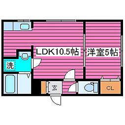 北海道札幌市東区北三十六条東16丁目の賃貸マンションの間取り