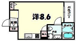 サンクラッソ神戸山手 1階1Kの間取り
