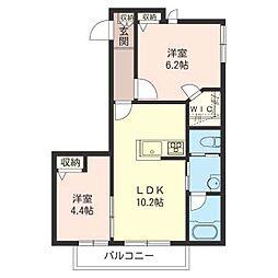 仮)大田区東雪谷1丁目シャーメゾン[2階]の間取り