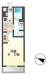 JR常磐線 牛久駅 徒歩3分の賃貸アパート 1階1Kの間取り