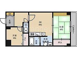 レジデンス鶴見緑地[6階]の間取り