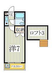シーザースパレス1[2階]の間取り