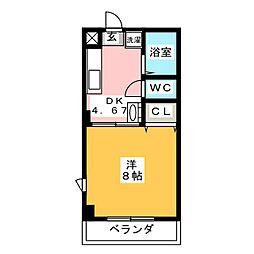 アイビス山崎[4階]の間取り