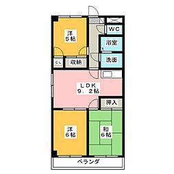シンシア春日井[2階]の間取り