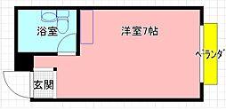 ライフベース若江[203号室]の間取り