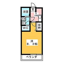 クレフラスト春日井[1階]の間取り