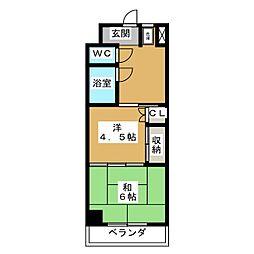 メゾンサイプリス[2階]の間取り