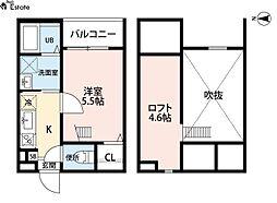 イルクオーレ高道町 (イルクオーレタカミチチョウ)[1階]の間取り