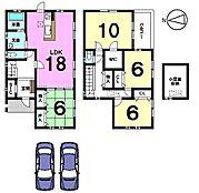 土地面積53.33坪、角地の物件です。小屋裏収納を備えたゆとりある間取りお気軽にお問合せ下さい。