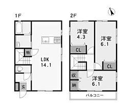 [一戸建] 兵庫県姫路市白国4丁目 の賃貸【/】の間取り