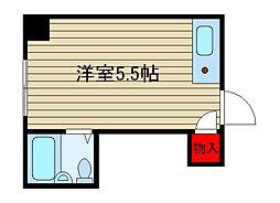 堀江グリーンハイツ[412号室]の間取り