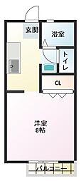 ルミエールHORI C棟[1階]の間取り