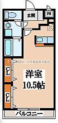 ディオーネ・ジエータ・長堂[2階]の間取り