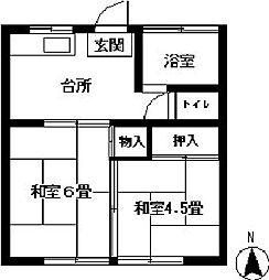 田代荘[102号室]の間取り