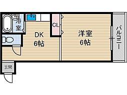 FLAT34茨木[2階]の間取り