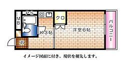 EFT−牛田新町[410号室]の間取り