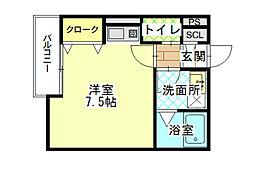 reside大庄西町[1F2号室]の間取り