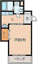 PLEAST荘島(プレスト荘島)[402号室]の間取り