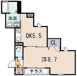 大阪府東大阪市下小阪4丁目の賃貸マンションの間取り