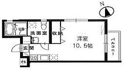千葉県松戸市西馬橋蔵元町の賃貸マンションの間取り