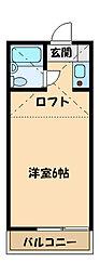 埼玉県さいたま市桜区大字神田の賃貸アパートの間取り