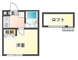 千葉県船橋市三山6丁目の賃貸アパートの間取り