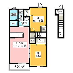 プラーナ C[2階]の間取り