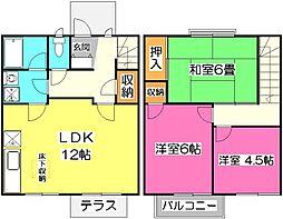 [テラスハウス] 東京都東村山市久米川町4丁目 の賃貸【/】の間取り