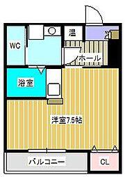 ネクスタージュ新松戸[1階]の間取り