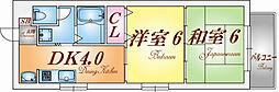 兵庫県神戸市兵庫区都由乃町3丁目の賃貸マンションの間取り