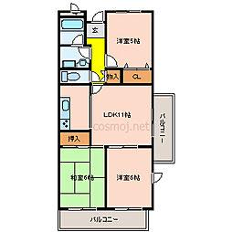 ラフィーネ川崎[3階]の間取り