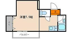 シングルハウスアトラクター[302号室]の間取り