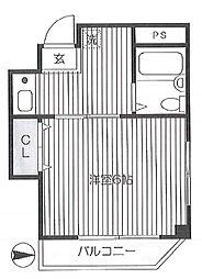 第62シンエイマンション bt[302kk号室]の間取り