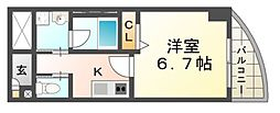 リエス尼崎東[3階]の間取り