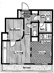 神奈川県相模原市中央区弥栄2丁目の賃貸マンションの間取り