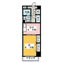 愛知県名古屋市昭和区御器所通3丁目の賃貸マンションの間取り
