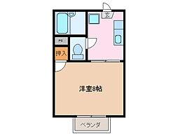 my.フォーブル西C[2階]の間取り