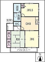 ビューラ加藤C[2階]の間取り
