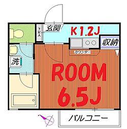 神奈川県横浜市神奈川区高島台の賃貸アパートの間取り