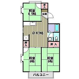 ディアコート小金台D棟[2階]の間取り