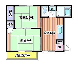 グリーンコーポ 栄[2階]の間取り