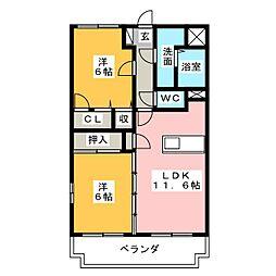エヌケイガーデン[1階]の間取り