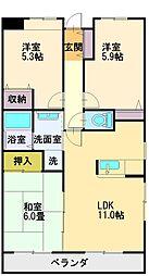 うれし野DUET[1階]の間取り