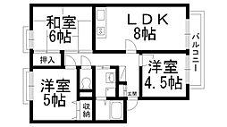 カルチェ東香里IIB棟[0201号室]の間取り