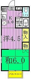 コーポあけぼの(2丁目)[101号室]の間取り
