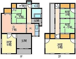 [一戸建] 千葉県船橋市新高根4丁目 の賃貸【/】の間取り