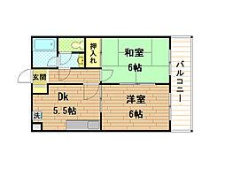 兵庫県神戸市垂水区川原1丁目の賃貸マンションの間取り