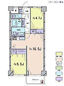2LDK・専有面積61.6平米・バルコニー面積4.04平米